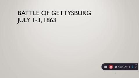 Thumbnail for entry Battle of Gettysburg