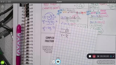 Thumbnail for entry 8-23 Pre-Calc Complex Fractions