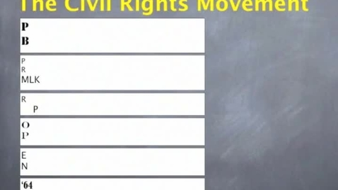 Thumbnail for entry Hist 7-Ch 9- Lesson 4: Civil Rights Movement