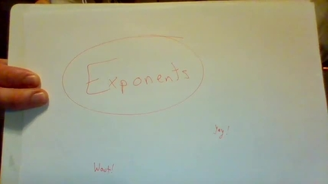 Thumbnail for entry Exponents Introduction