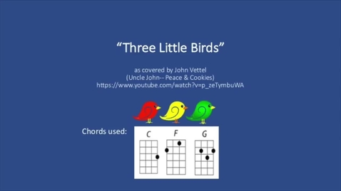 Thumbnail for entry Three Little Birds (Revised) Ukulele Play Along