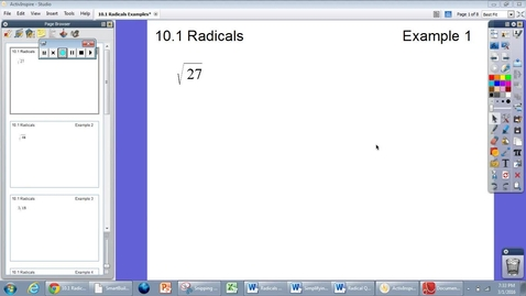Thumbnail for entry 10.1 Radicals Example #1