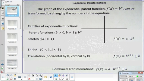 Thumbnail for entry Exponential transformations lesson pt 2   2-24-15