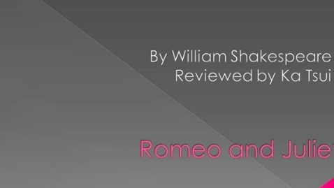 Thumbnail for entry Romeo and Juliet
