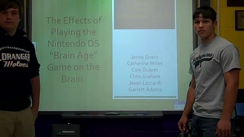 Thumbnail for entry Student Presentations of Nintendo DS First Hour