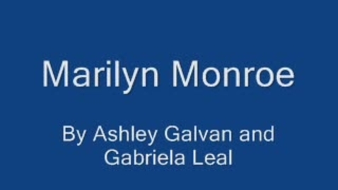 Thumbnail for entry The life of Marilyn Monroe