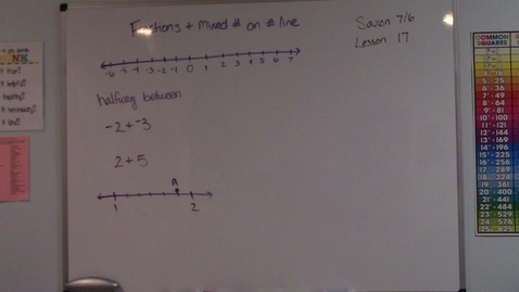 Thumbnail for entry Saxon 7/6 - Lesson 17 - Fraction & Mixed Numbers on a Number Line
