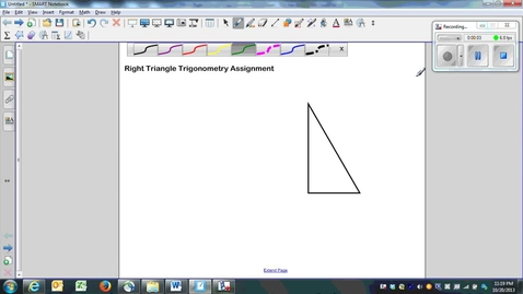 Thumbnail for entry Right Triangle Trigonometry Assignment Question 1