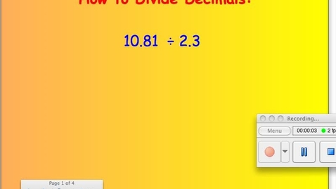 Thumbnail for entry How to Divide Decimals