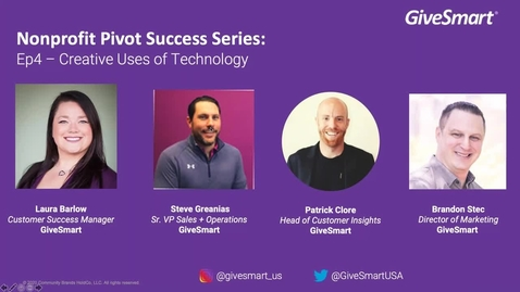 Thumbnail for entry Webinar Customer Success Creative Uses of Technology