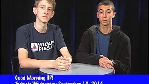 Thumbnail for entry Wednesday, September 10, 2014