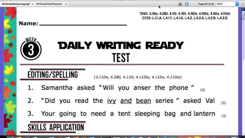 Thumbnail for entry Video 2-Writing and Reading Tests