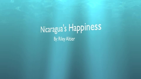 Thumbnail for entry Nicaragua's Happiness