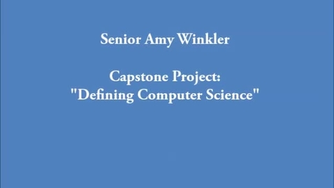 Thumbnail for entry Defining Computer Science and Diversity within the FIeld
