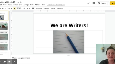 Thumbnail for entry Kinder Star Writing 5 25 - Google Slides