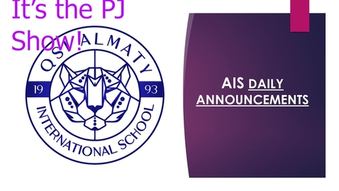 Thumbnail for entry QSI AIS Announcements November 2-6