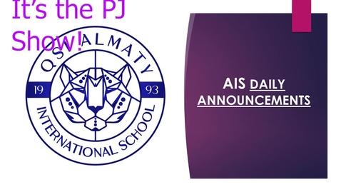 Thumbnail for entry QSI AIS Announcements November 2-6