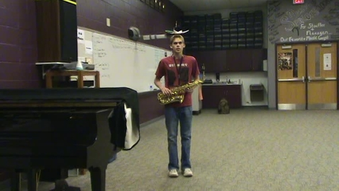 Thumbnail for entry Scott Menefee (Alto Sax) SIDE Marching Audition (MENC - AAMB 2009)