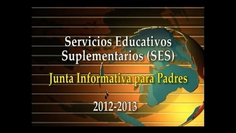 Thumbnail for entry SES 2012-13 (Spanish)