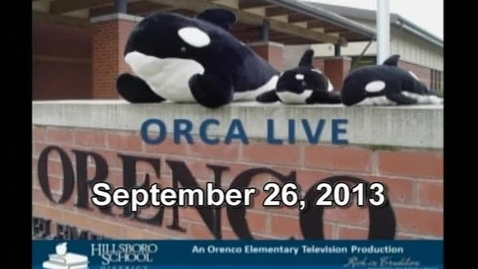 Thumbnail for entry Orca Live September 26, 2013