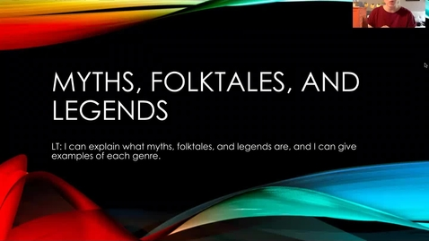 Thumbnail for entry Myths Folktales Legends Lesson