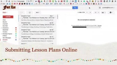 Thumbnail for entry Submitting Lesson Plans Electronically