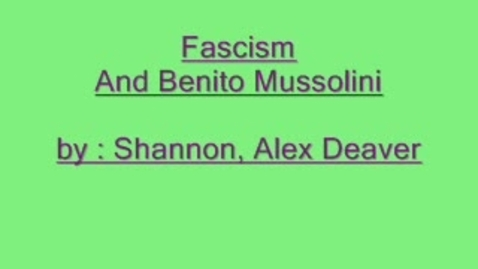 Thumbnail for entry Fascism