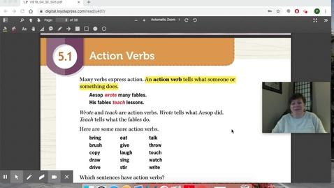 Thumbnail for entry Grammar 5.1 Action Verbs