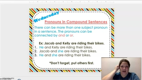 Thumbnail for entry Compound Subject Pronouns