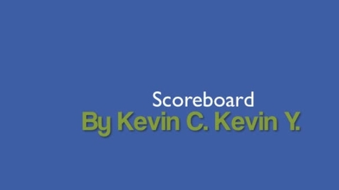 Thumbnail for entry Scoreboard