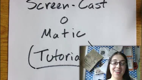 Thumbnail for entry Screen-Cast-O-Matic Tutorial