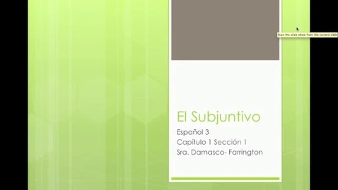 Thumbnail for entry El Subjuntivo