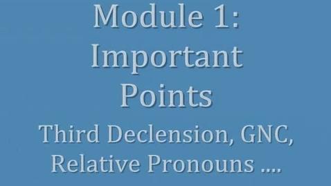 Thumbnail for entry Latin II Module I