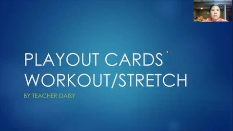 Thumbnail for entry Playout Workout 3-5