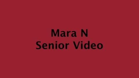 Thumbnail for entry Mara's Senior Video