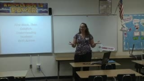 Thumbnail for entry First Work Then Goldfish: Understanding students with Autism