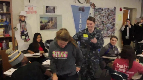 Thumbnail for entry Surprise visit from Navy sister