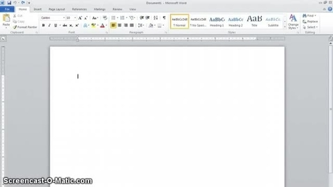 Thumbnail for entry Setting Up an MLA Paper with Word 2010