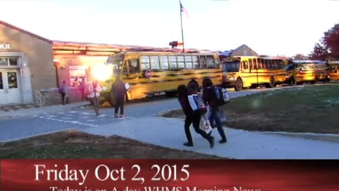 Thumbnail for entry 10-2-15 WHMS Morning News