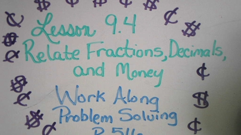 Thumbnail for entry 9.4 Work Along Problem Solving.mp4
