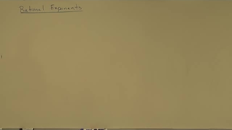 Thumbnail for entry Rational Exponents