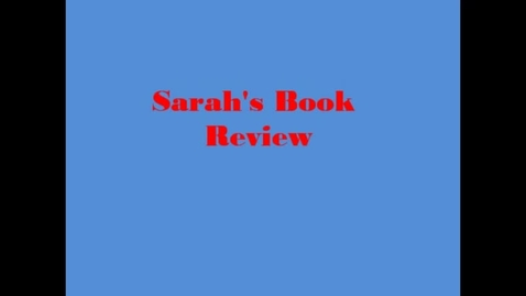 Thumbnail for entry 13-14 Linville Sarah's Book Review