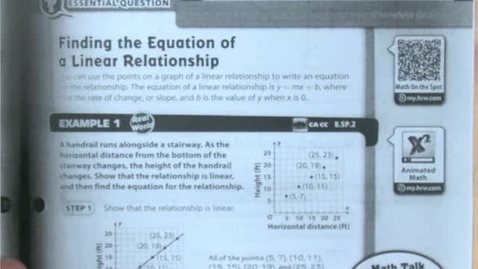 Thumbnail for entry 5.3a Linear Relationships and Bivariate Data Part 1