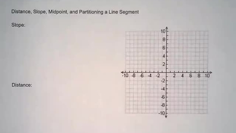 Thumbnail for entry Coordinate Geometry