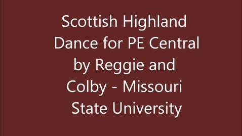 Thumbnail for entry Scottish Highland Dance