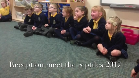 Thumbnail for entry Nicol Mere Reception children meet Dillons reptiles. 2017