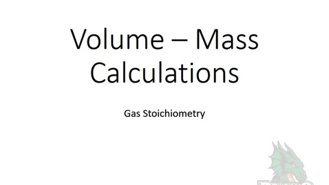 Thumbnail for entry Volume-Mass Calclulation