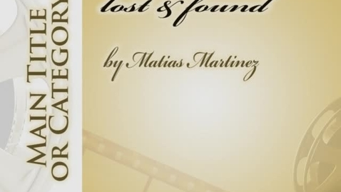 Thumbnail for entry lost and found Matia