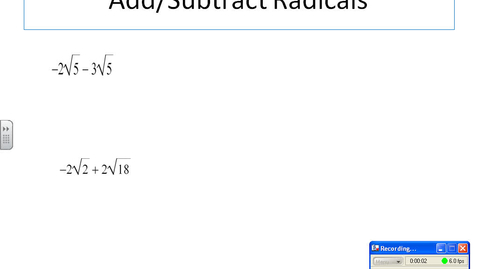 Thumbnail for entry Add and Subtract Radicals