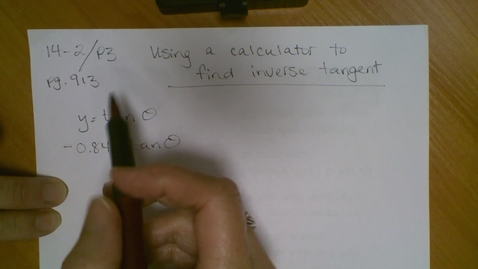 Thumbnail for entry 14.2 Inverse Trig Functions (part 2)